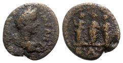 Ancient Coins - Antoninus Pius (138-161). Judaea, Aelia Capitolina. Æ - R/ The Three Graces
