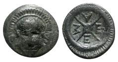 Ancient Coins - Thrace, Mesambria, c. 275/50-175 BC. Æ - Helmet / Wheel