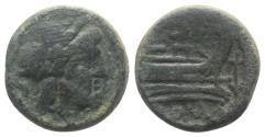 Ancient Coins - ROME REPUBLIC. Anchor series, Rome, 169-158 BC. Æ Semis