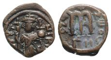 Ancient Coins - Constans II (641-668). Æ 40 Nummi - Constantinople, year 2