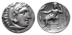 Ancient Coins - Kings of Macedon, Philip III Arrhidaios (323-317). AR Drachm. In the name and types of Alexander III. Kolophon, c. 322-319 BC.