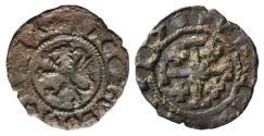 Ancient Coins - Crusaders, Lusignan Kingdom of Cyprus. James II (1460-1473). Æ Sixain. Uncertain (Famagusta[?]) mint. Lion  R/ Jerusalem Cross.