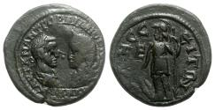 Ancient Coins - Gordian III and Tranquillina (238-244). Moesia Inferior, Odessus. Æ Assaria - R/ Athena