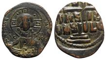 Ancient Coins - Anonymous, time of Romanus III (1028-1034). Æ 40 Nummi. Constantinople.