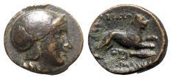 Ancient Coins - Kings of Thrace, Lysimachos (305-281 BC). Æ - Athena / Lion