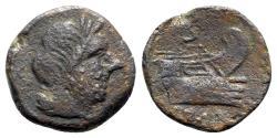 Ancient Coins - Roman Republic, Anonymous, Rome, after 211 BC. Unofficial Æ Semis