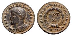 Ancient Coins - Crispus (Caesar, 316-326). Æ Follis - Thessalonica