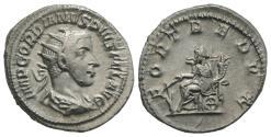 Ancient Coins - Gordian III. AD 238-244. AR Antoninianus R/ FORTUNA REDUX