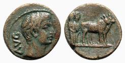 Ancient Coins - Augustus (27 BC-AD 14). Macedon, Philippi. Æ