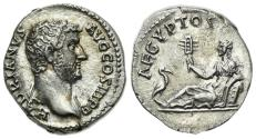 Ancient Coins - Hadrian (117-138). AR Denarius. Rome, c. 134-8. R/ Egypt EXTREMELY FINE