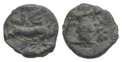 Ancient Coins - Roman PB Tessera, c. 1st century BC - 1st century AD (9mm, 0.80g). Victory  R/ Two rampant goats