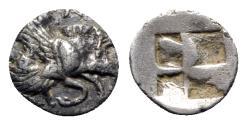 Ancient Coins - Ionia, Klazomenai, c. 480-400 BC. AR Diobol
