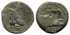 Ancient Coins - C. Vibius C.f. Pansa, c. 90 BC. Æ As