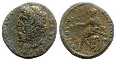 Ancient Coins - Lydia, Maeonia. Pseudo-autonomous issue. Time of Marcus Aurelius (161-180). Æ - Zeus Olympios / Athena - RARE