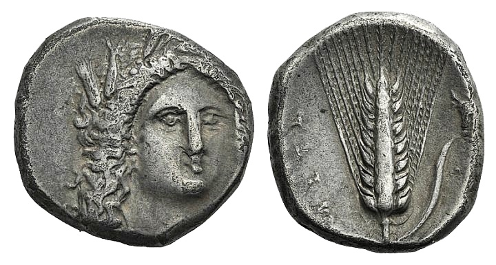 Ancient Coins - Southern Lucania, Metapontion, c. 330-290 BC. AR Stater