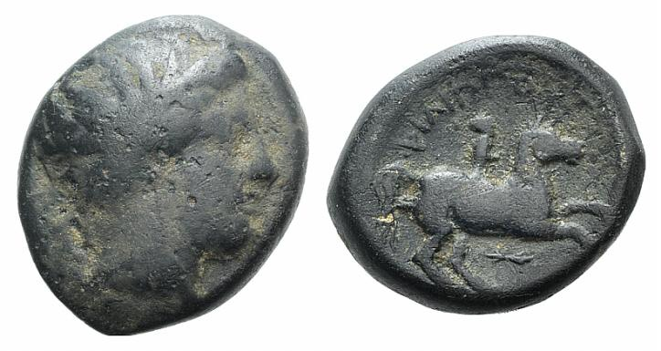 Ancient Coins - Kings of Macedon, Philip II (359-336 BC). AE Unit
