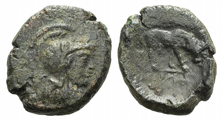Ancient Coins - Macedon, Thessalonica, c. 187-31 BC. AE 19mm