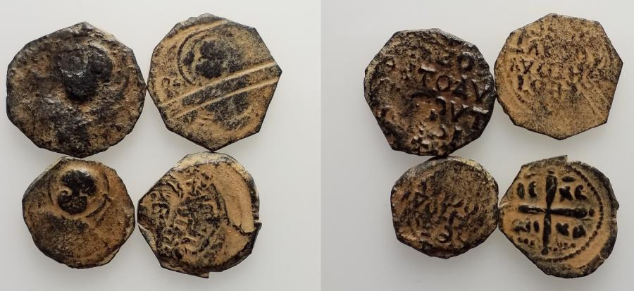 Ancient Coins - Crusaders, Antioch. Tancred (Regent, 1101-03, 1104-12). Group of 4 Æ Folles, to be catalog
