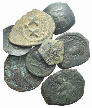 World Coins - Lot of 8 Æ Byzantine (7) and Islamic (1) coins, to be catalog. LOT SOLD AS IS, NO RETURNS