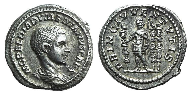 Ancient Coins - Diadumenian (217-218). AR Denarius. Rome, 217-8.