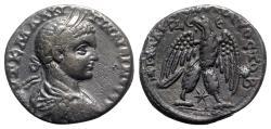 Ancient Coins - Elagabalus (218-222). Seleucis and Pieria, Antioch. AR Tetradrachm - R/ Eagle