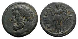 Ancient Coins - Lydia, Tripolis. Pseudo-autonomous issue, c. 3rd century AD. Æ - Herakles(?) / Nemesis - RARE