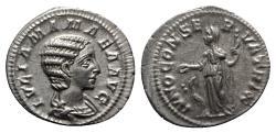 Ancient Coins - Julia Mamaea (Augusta, 222-235). AR Denarius - R/ Juno