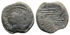 Ancient Coins - Pinarius Natta, Rome, 155 BC. Æ Semis