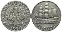 World Coins - Poland, First Republic (1918-1939). AR 5 Zlotych 1936