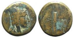 Ancient Coins - Pontos, Amisos, c. 125-100 BC. Æ 27mm. Under Mithradates VI, c. 120-111 or 100-95. R/ Quiver and unstrung bow.