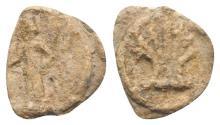 Ancient Coins - Roman PB Tessera, c. 1st century BC - 1st century AD. Venus R/ Pecten shell