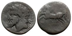 Ancient Coins - Kings of Numidia, Massinissa or Micipsa (203-148 BC or 148-118 BC). Æ Unit