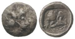 Ancient Coins - Asia Minor, Uncertain, c. 5th century BC. AR Tetartemorion UNPUBLISHED