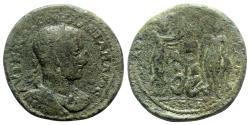Ancient Coins - Severus Alexander (222-235). Cilicia, Anazarbus. Æ - R/ Emperor with Nike - RARE
