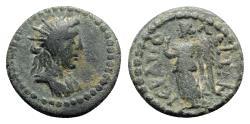 Ancient Coins - Phrygia, Hierapolis. Imperial times. Æ - Helios / Nemesis