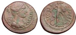 Ancient Coins - Julius Caesar and C. Clovius. AE As  R/ Minerva  SCARCE