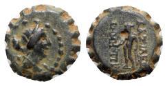 Ancient Coins - Seleukid Kings, Demetrios I (162-150 BC). Serrate Æ - RARE