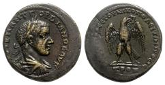 Ancient Coins - Gordian III (238-244). Moesia Inferior, Nicopolis. Æ - Sab. Modestus, strategos - R/ Eagle