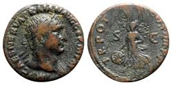 Ancient Coins - Trajan (98-117). Æ As - Rome - R/ Victory