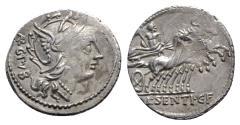 Ancient Coins - L. Sentius C.f., Rome, 101 BC. AR Denarius