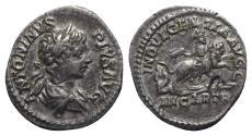 Ancient Coins - Caracalla (198-217). AR Denarius - Rome - R/ Dea Caelestis