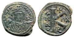 Ancient Coins - Maurice Tiberius (582-602). Æ 20 Nummi - Antioch, year 12