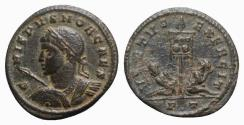 Ancient Coins - Crispus (Caesar, 316-326). Æ Follis - Ticinum