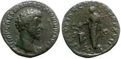 Ancient Coins - Marcus Aurelius (161-180). Æ Sestertius - Rome - R/ Salus