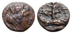 Ancient Coins - Phoenicia, Tyre, time of Hadrian (117-138). Æ - Tyche / Astarte on galley
