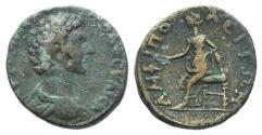 Ancient Coins - Marcus Aurelius (Caesar, 139-161). Macedon, Amphipolis. Æ 25mm.  R/ Amphipolis