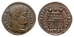 Ancient Coins - Constantine I (307/310-337). Æ Follis - Thessalonica - R/ Camp gate