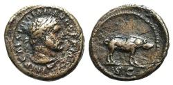 Ancient Coins - Trajan (98-117). Æ Quadrans. Rome, c. 100-110.  R/ Boar