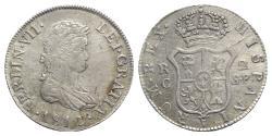 World Coins - Spain, Ferdinando VII (1808-1833). AR 2 Reales 1812 SF, Traveling mint
