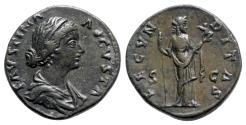 Ancient Coins - Faustina Junior (Augusta, 147-175). Æ As - Rome - R/ Fecunditas